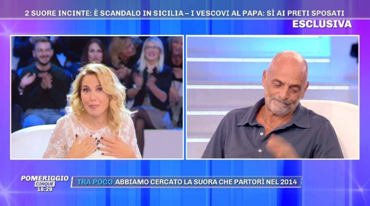 Barbara d'Urso e Paolo Brosio rimprovero
