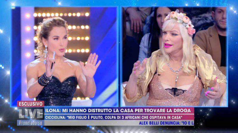 Barbara d'Urso e Ilona Staller schermo
