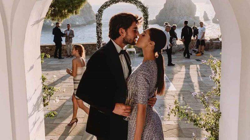 Cecilia Rodriguez e Ignazio Moser eleganti