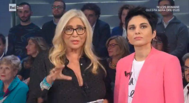Giordana Angi con Mara Venier