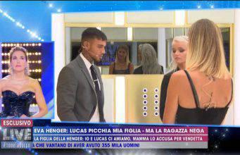 Lucas Peracchi non fa pace con Eva Henger a Live Non è la d'Urso