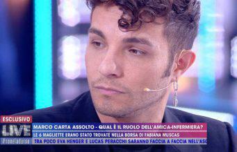 """Marco Carta dopo l'udienza a Live Non è la d'Urso:  """"Ho denunciato!"""""""