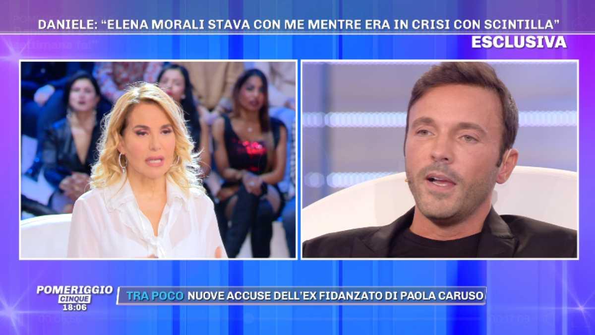 Barbara d'Urso con Daniele Di Lorenzo a Pomeriggio 5