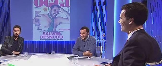 Scanzi e Salvini a La7