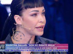 Valentina Dallari primo piano a Live Non è la d'Urso