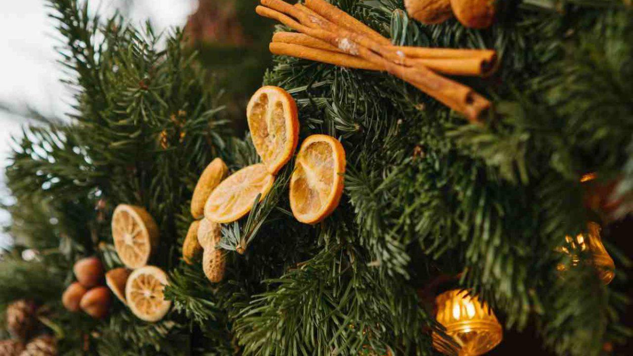 Arance Decorazioni Natalizie.Albero Di Natale Decorato Con Arance Essiccate E Cannella