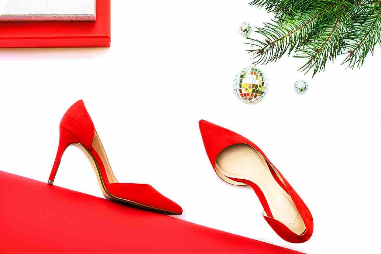scarpe rosse natale