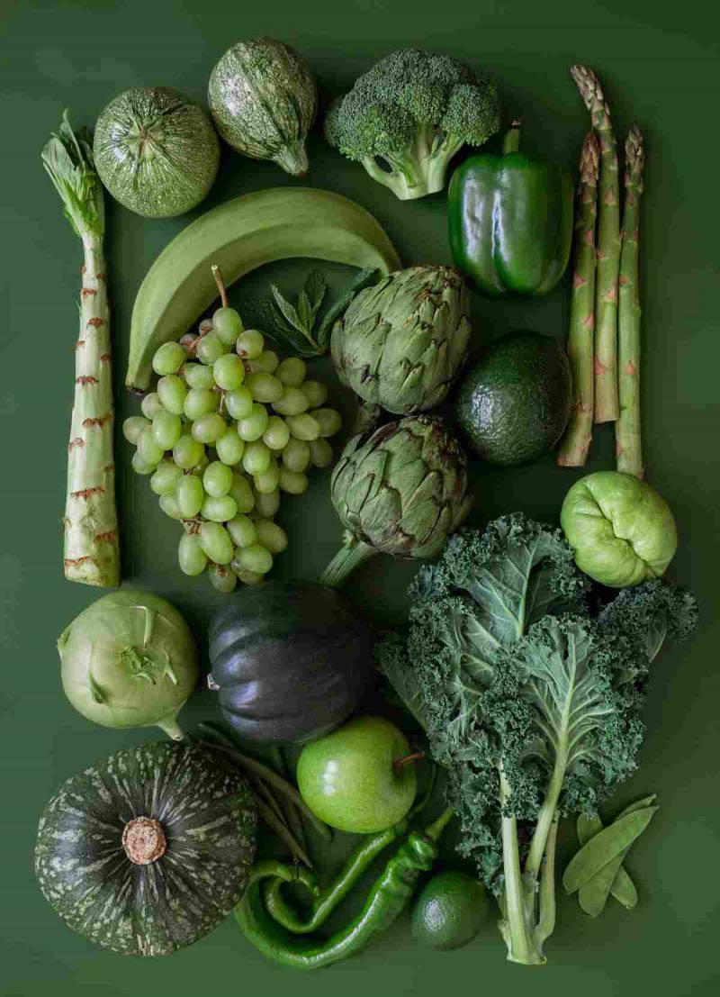 verdure foglie verde