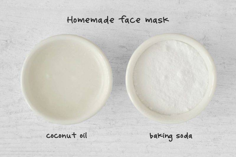 maschera facciale olio di cocco