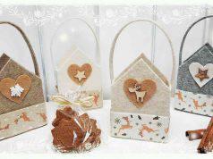 cestino natalizio in feltro