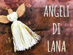 Natale fai da te: angeli di lana decorazioni natalizie