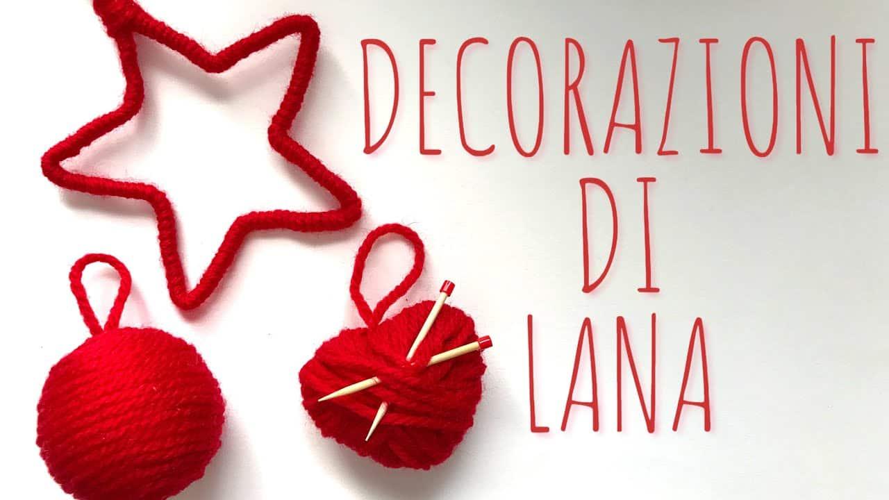 Stelle Di Natale Da Costruire natale fai da te: decorazioni natalizie di lana -video-