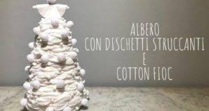 Natale fai da te | Albero di Natale con dischetti struccanti -VIDEO-