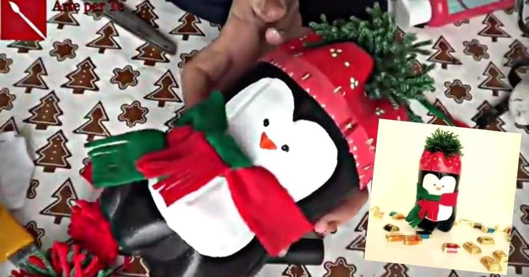 Befana fai da te | Pinguino porta dolcetti con il riciclo creativo