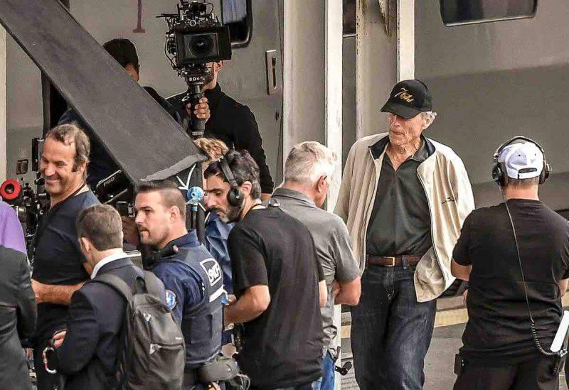 Clint Eastwood sul set