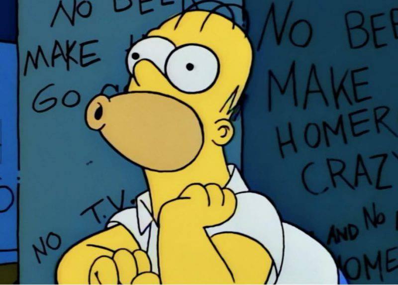 Homer Simpson in una scena