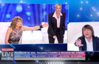"""Live Non è la d'Urso   Asia Argento sbotta: """"Ti sputo in faccia!"""""""