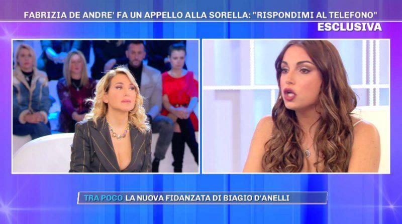Pomeriggio 5, Francesca De André confessione