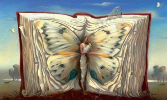 Test libro farfalla donna