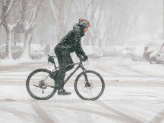 bicicletta in inverno