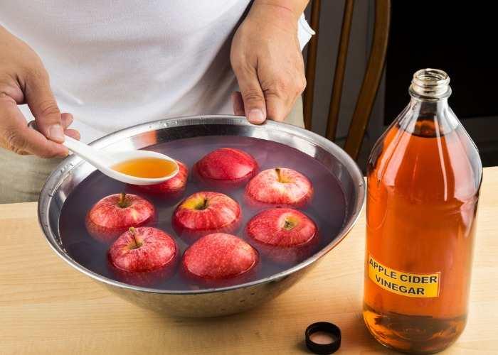 Lavare frutta e verdure con aceto di mele