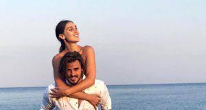 Francesco Monte al mare con Cecilia