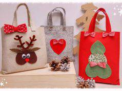 Natale fai da te | Christmas Bag in feltro -VIDEO-