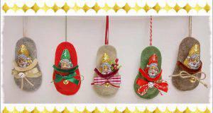 Natale fai da te | Mini ciabattina porta dolci -VIDEO-