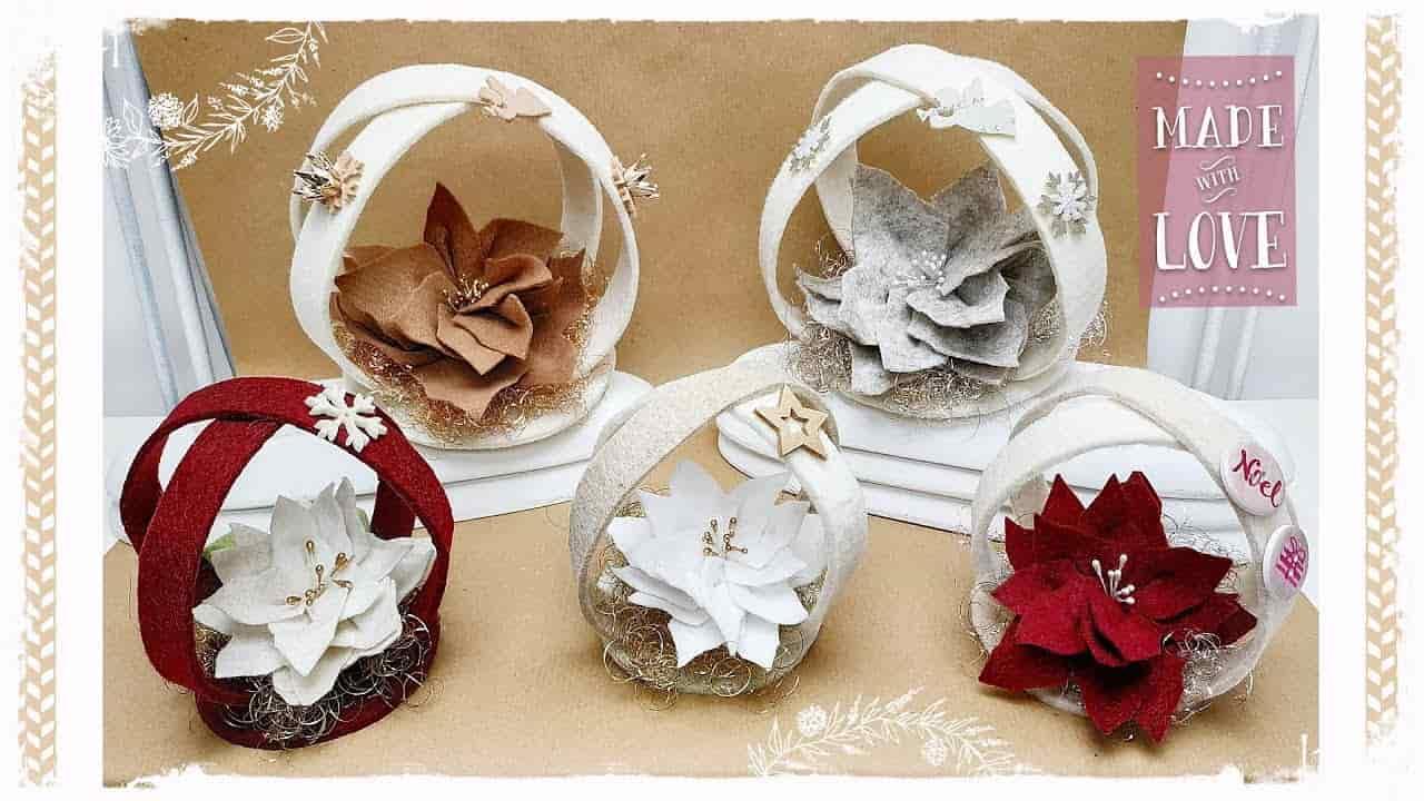 Natale fai da te : Girelle natalizie con il feltro -VIDEO-