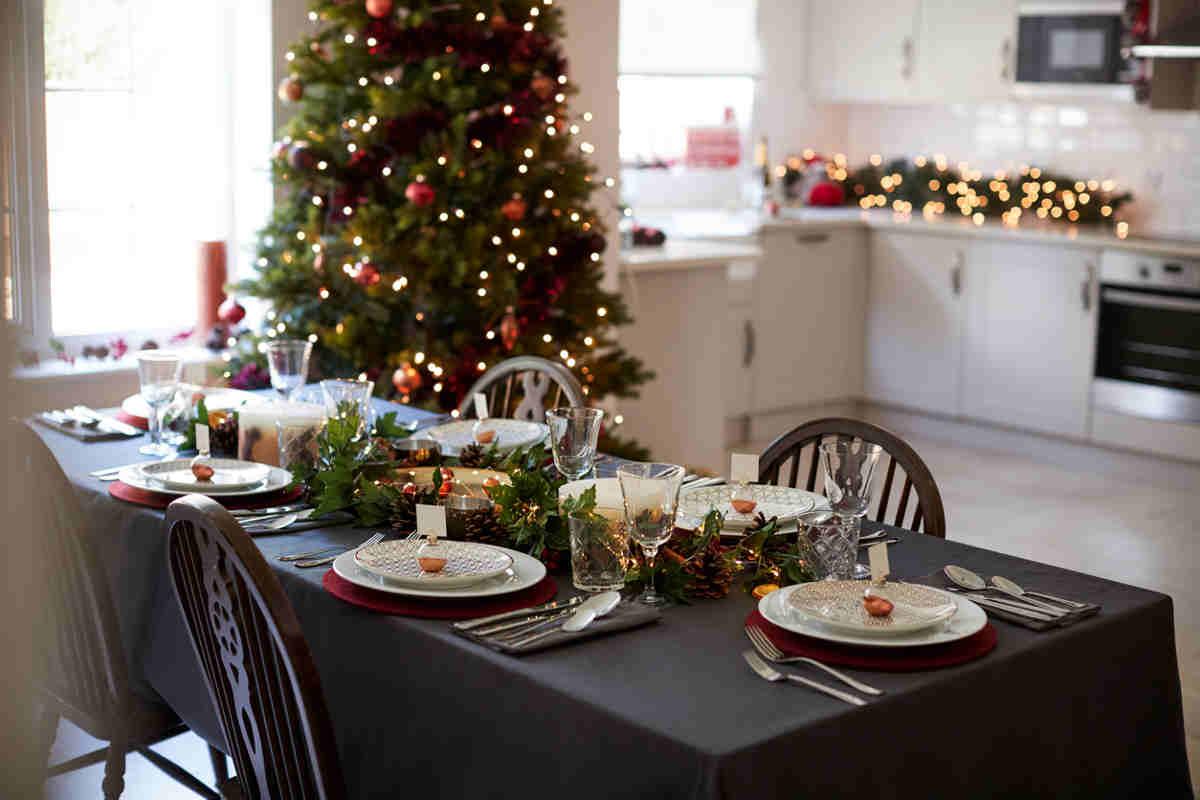 tavolo a Natale