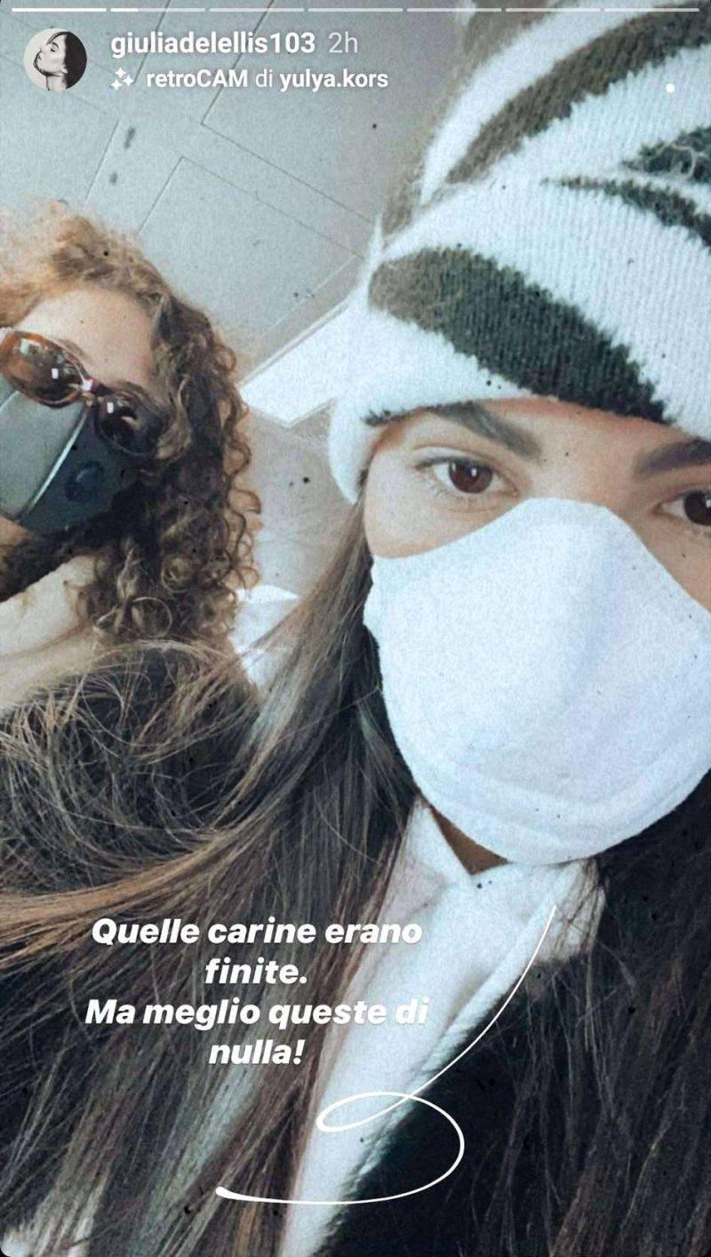 Giulia de lellis mascherina coronavirus
