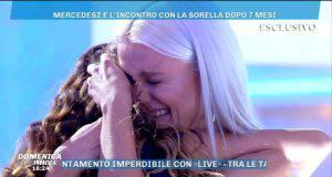Domenica Live, Mercedesz Henger piange