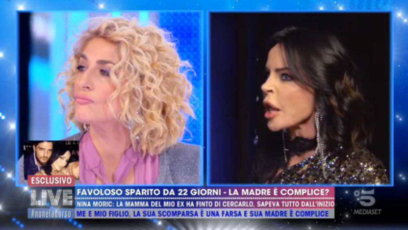 Nina Moric con la mamma di Favoloso
