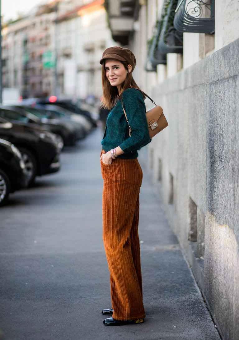 pantaloni velluto abbinamenti