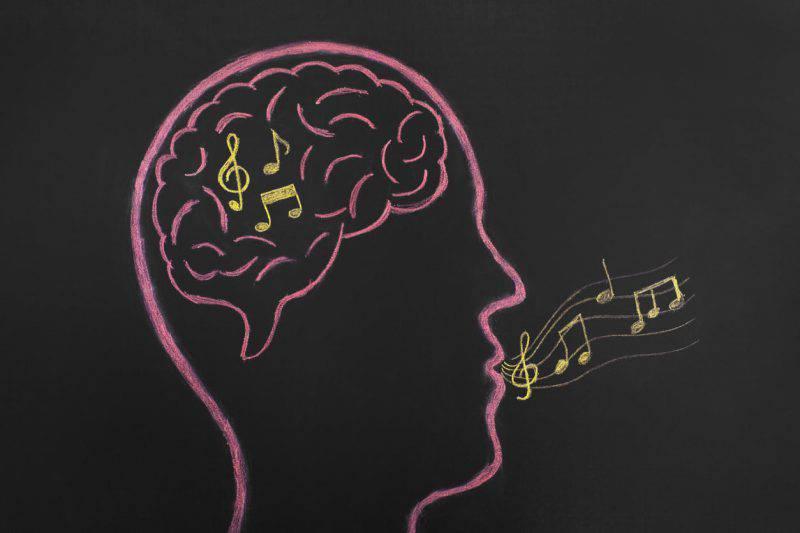 melodia testa musica cervello