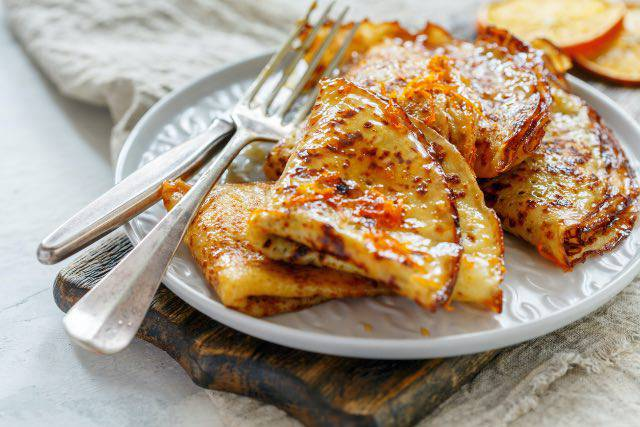 Crepes di patata dolce