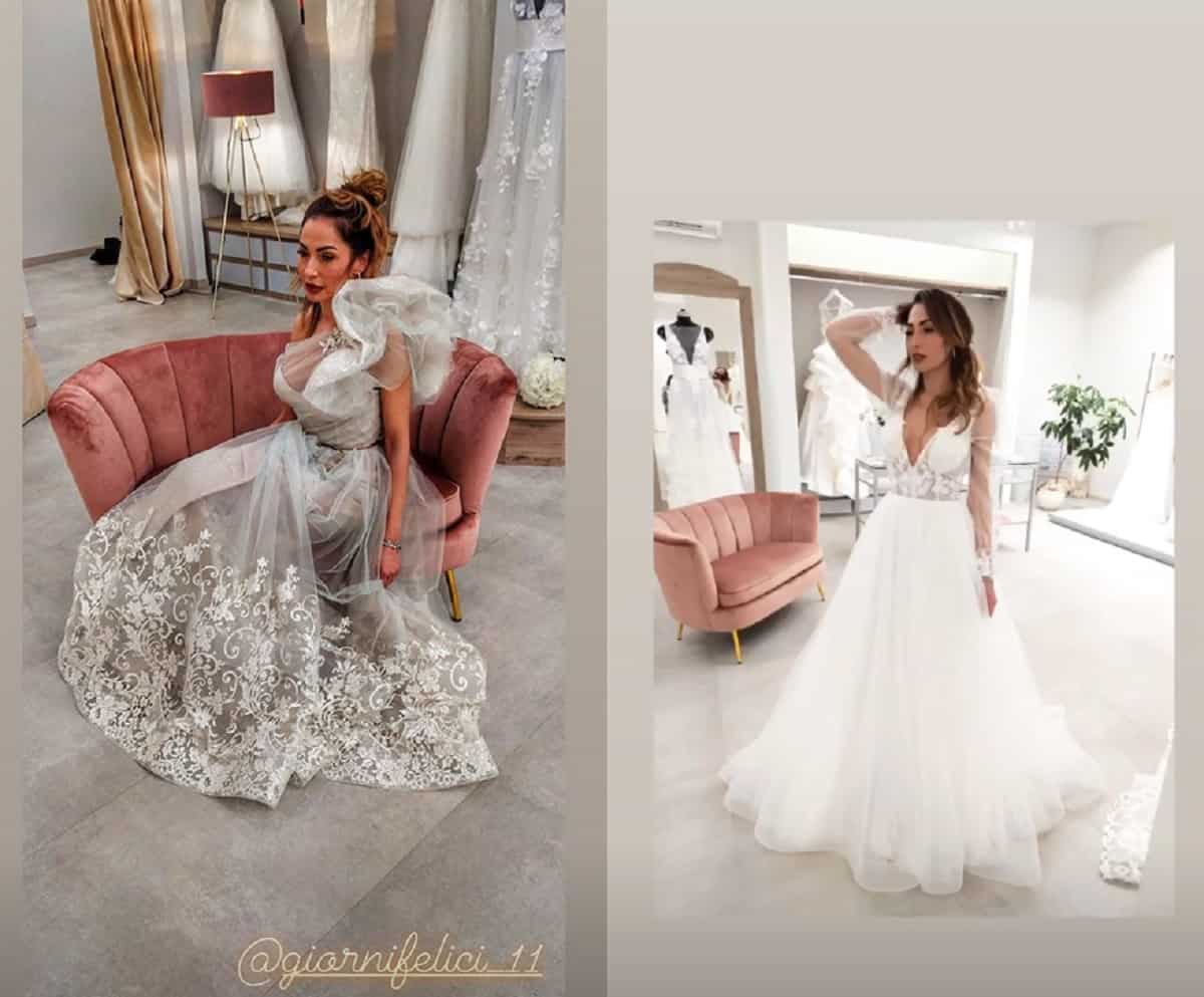 uomini e donne ida platano abito da sposa