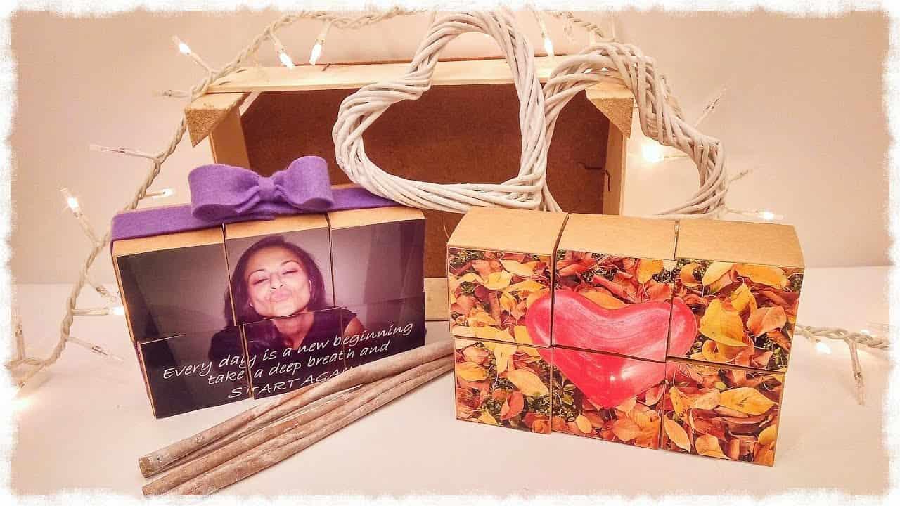 San Valentino fai da te | puzzle 'photo box'