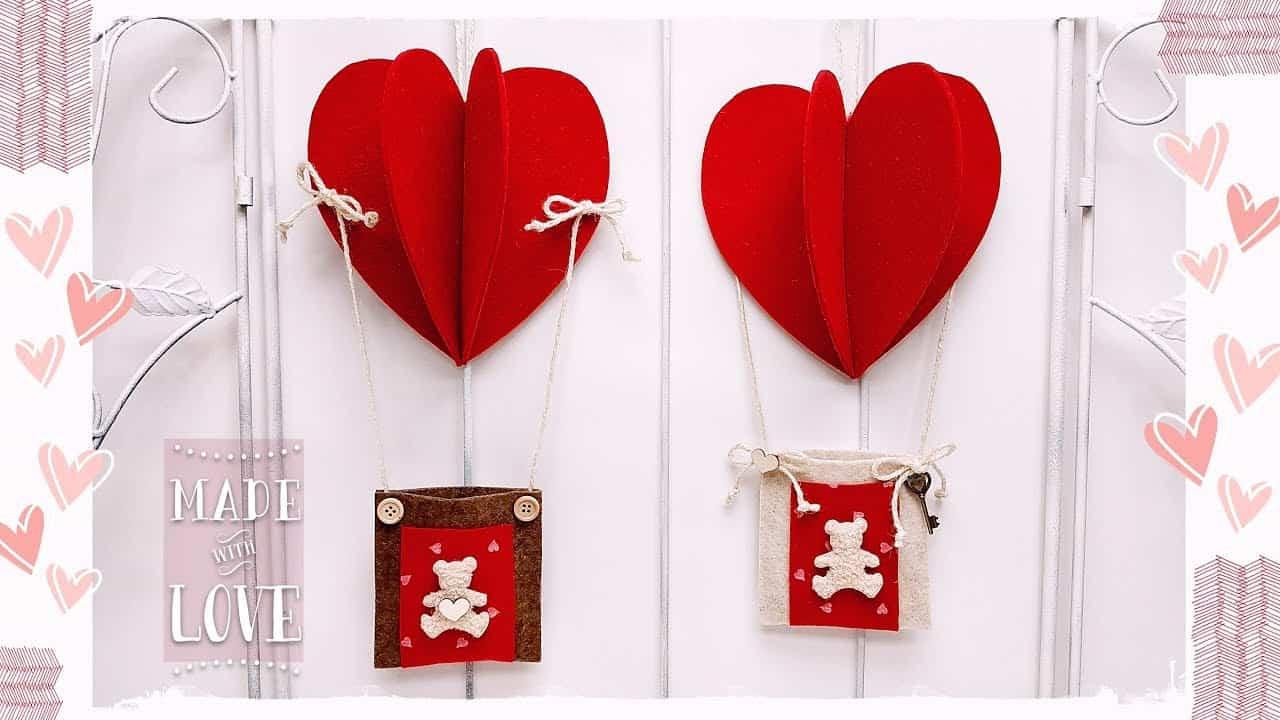 San Valentino fai da te | mongolfiera a cuore -VIDEO-