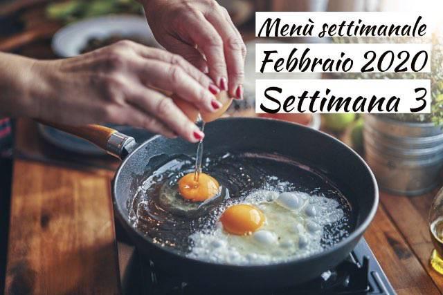 Menù settimanale del mese di Febbraio