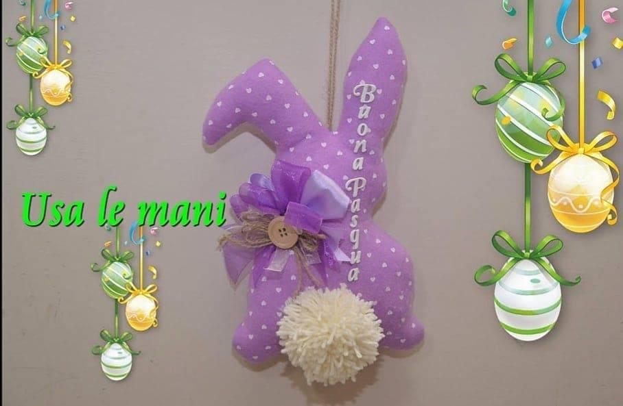 Pasqua fai da te | coniglio fuori porta in pannolenci