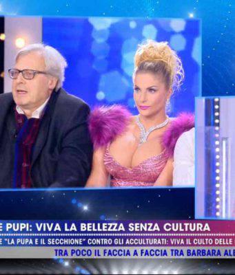 Vittorio Sgarbi insulta Barbara d'Urso
