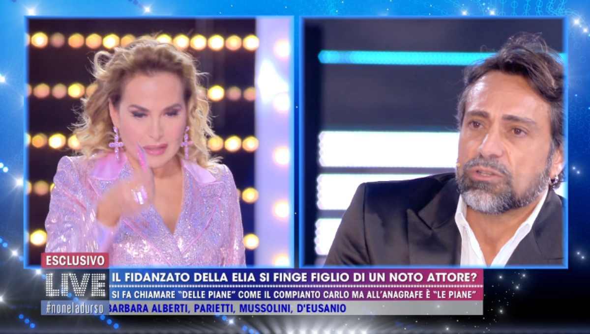 Barbara d'Urso con il fidanzato di Antonella Elia