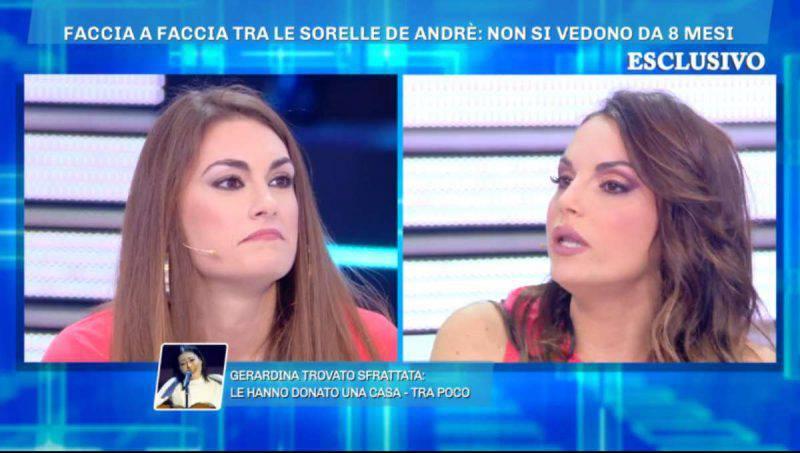 Domenica Live, lite sorelle di André