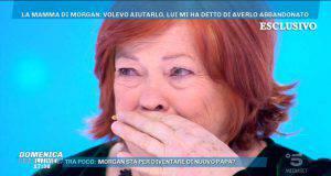 Mamma di Morgan a Domenica Live
