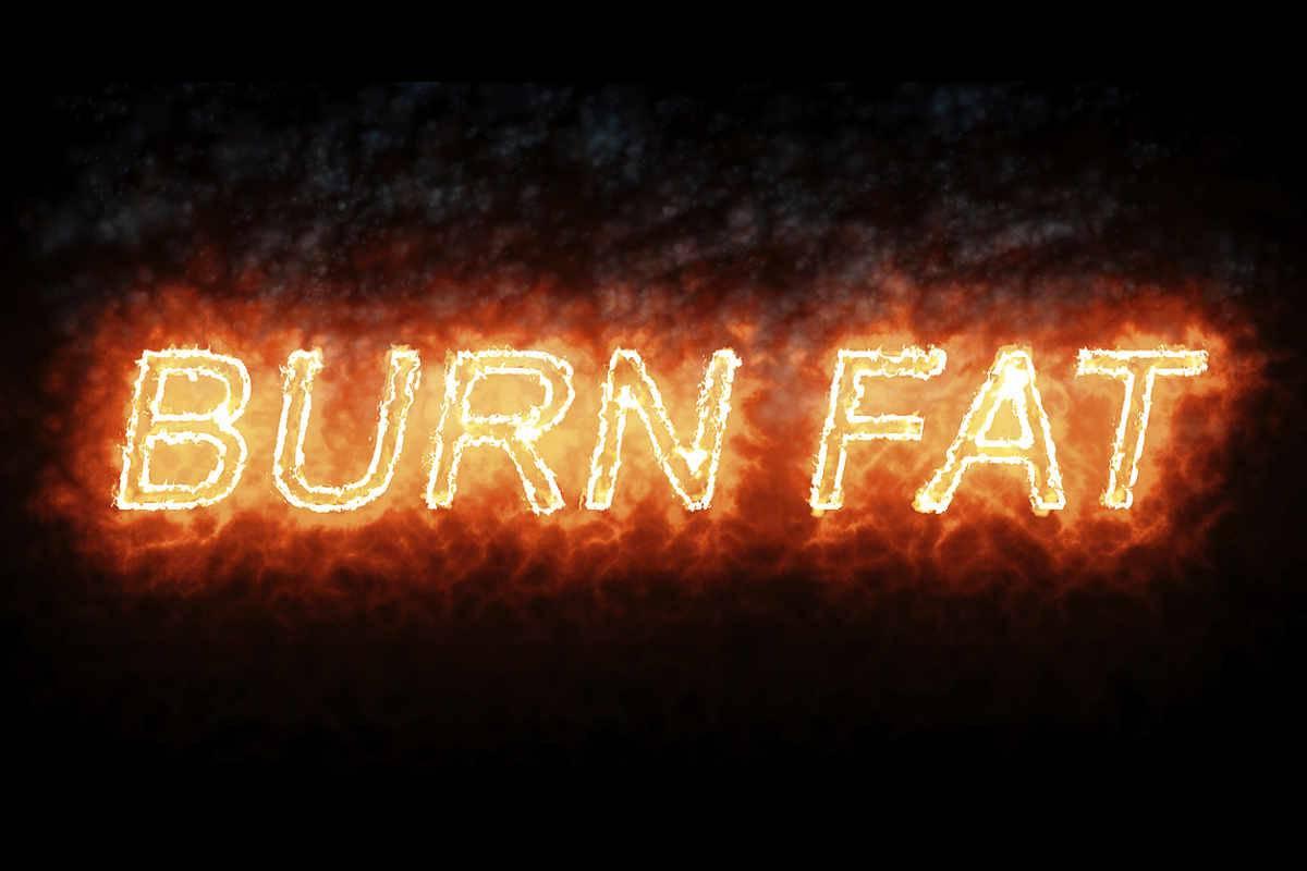 scritta burn fat