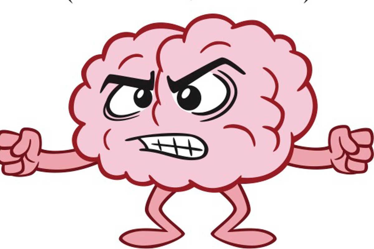 cervello arrabbiato
