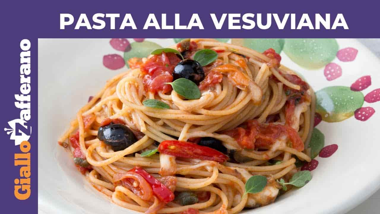 Primo piatto   spaghetti alla vesuviana -video-