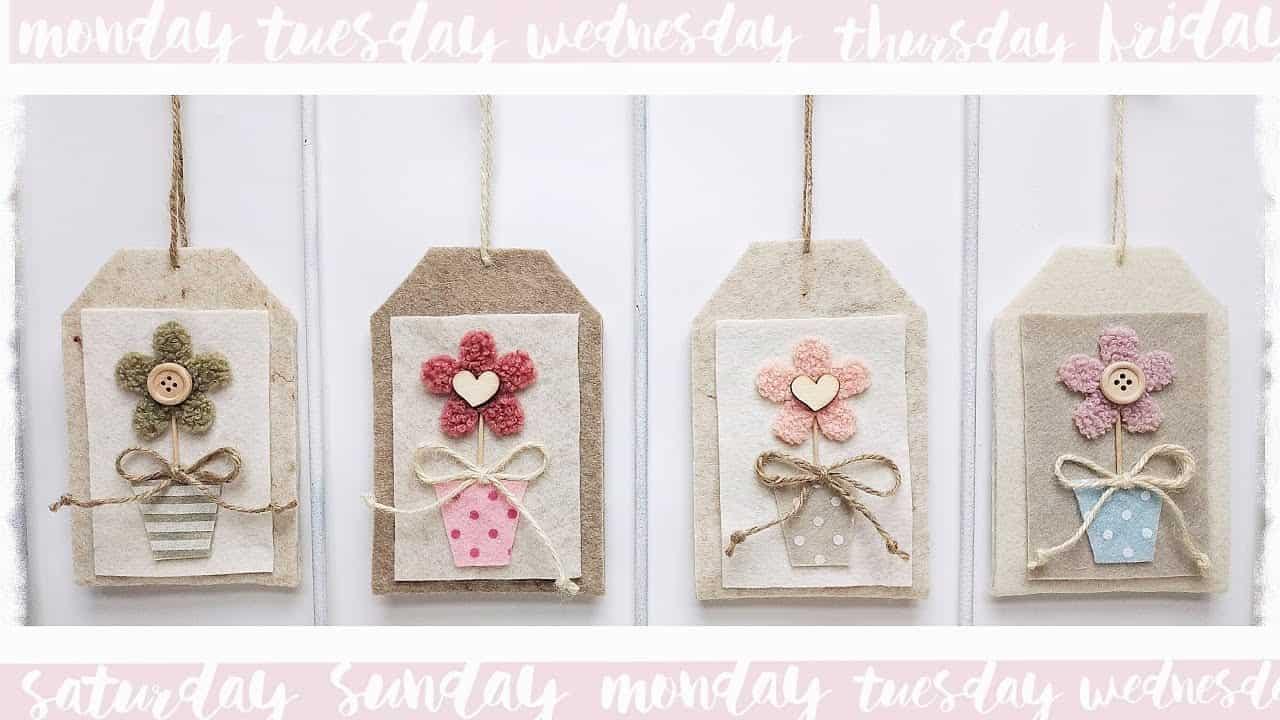 Flower pot tag porta confetti