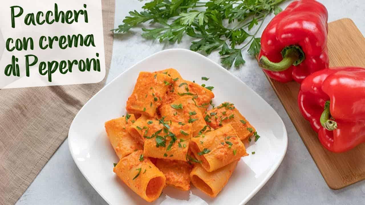 primo piatto |pasta con crema di peperoni